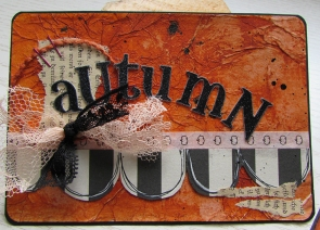 Journal card using contents of September Sweet Treat Box